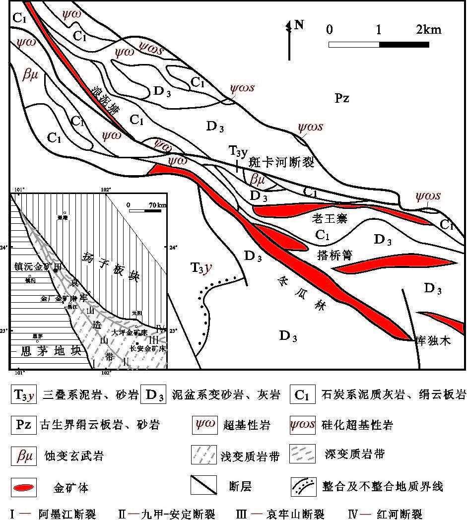 镇沅县乡镇地图